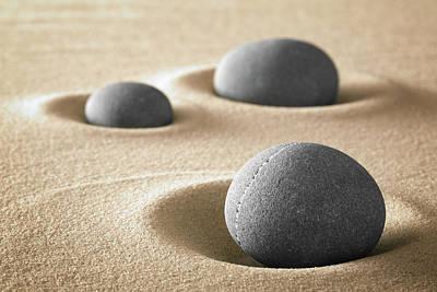 Poster featuring the photograph Zen Garden Meditation Stones by Dirk Ercken