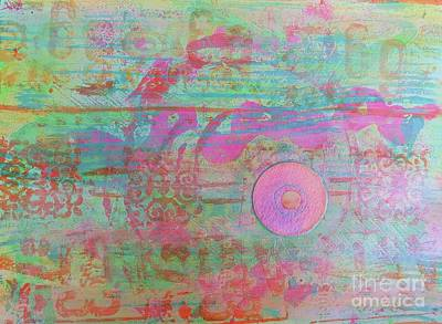 Zen In Pink And Green Poster by Desiree Paquette