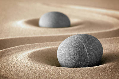 Poster featuring the photograph Zen Stone Garden by Dirk Ercken