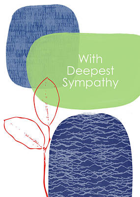 Zen Sympathy Card- Art By Linda Woods Poster by Linda Woods