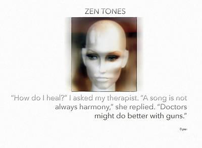 Zen Tones  Poster by Steven Digman