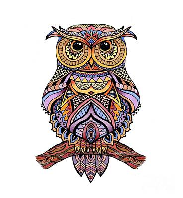 Zentangle Owl Poster by Suzanne Schaefer