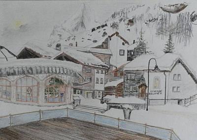 Zermatt Poster by Margaret Brooks