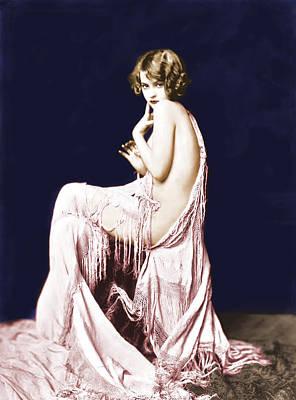 Ziegfeld Girl Anna Buckley Circa 1925 Poster by Rosie Mills