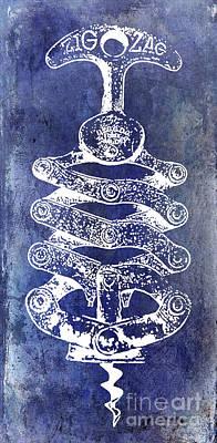 Zig Zag Corkscrew Poster by Jon Neidert