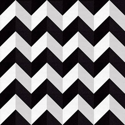 Zig Zag - Shadow Poster by Chuck Staley