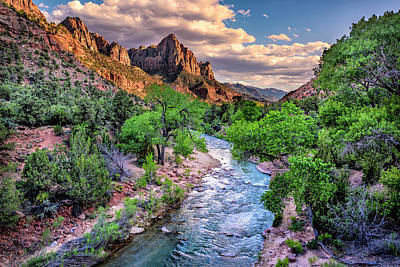 Zion Canyon At Sunset Poster