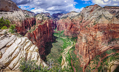Zion Canyon From Angel's Landing Panoramic Poster by Scott McGuire