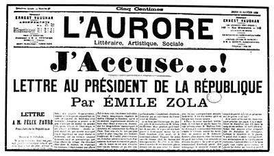 Zola: Laurore, 1898 Poster by Granger