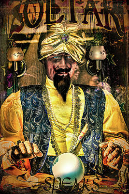 Poster featuring the photograph Zoltar by Chris Lord