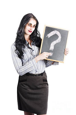 Zombie Businesswoman Poster