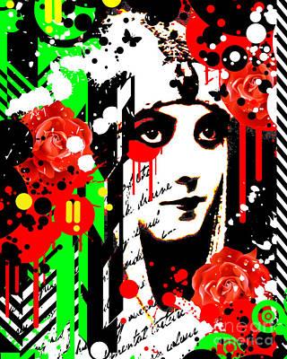 Zombie Queen Roses Poster