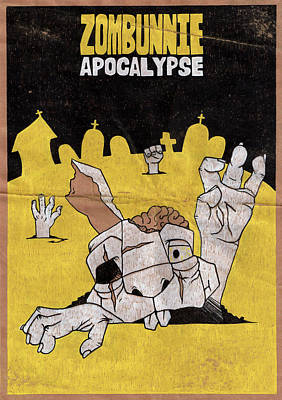 Zombunnie Apocalypse Poster by Bizarre Bunny