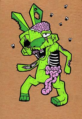 Zombunnie Poster by Bizarre Bunny