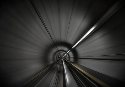 Zooming Along In The Tunnel Of Hope Poster