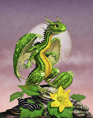 Zucchini Dragon Poster by Stanley Morrison