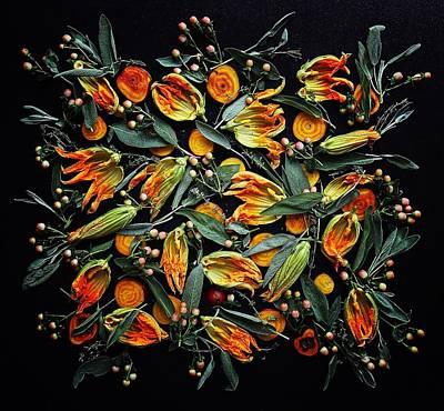 Zucchini Flower Patterns Poster