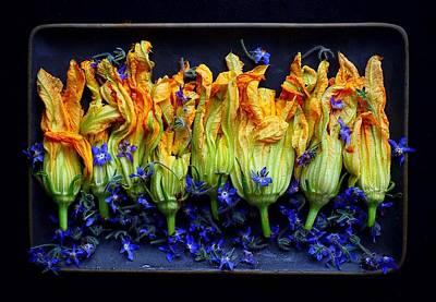 Zucchini Flowers Poster