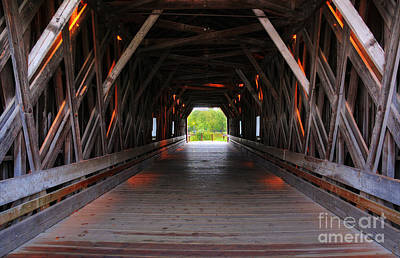 Zumbrota Minnesota Historic Covered Bridge 2 Poster by Wayne Moran