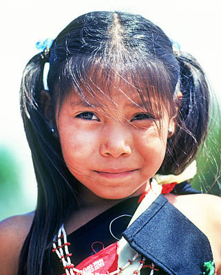 Zuni Indian Pueblo Girl Poster by Buddy Mays