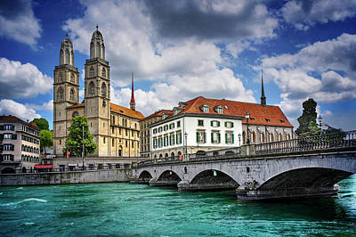 Poster featuring the photograph Zurich Old Town  by Carol Japp