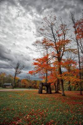 Poster featuring the photograph An Autumn Day At Chestnut Ridge Park by Guy Whiteley