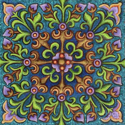 Botanical Mandala 8 Poster