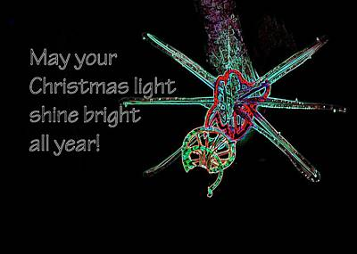 Poster featuring the photograph Christmas Star Light 26762 Ge by Jerry Sodorff