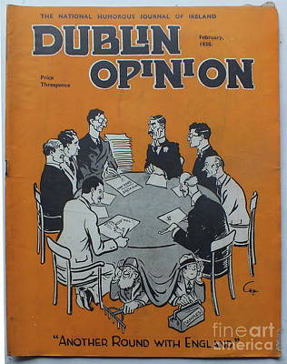 Poster featuring the painting Feb 1938 Dublin Opinion by Val Byrne