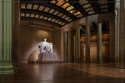 Inside The Lincoln Memorial - Custom Size Poster