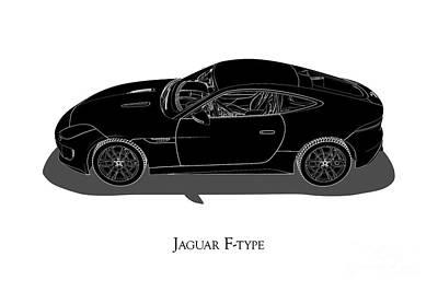 Jaguar F-type - Side View Poster