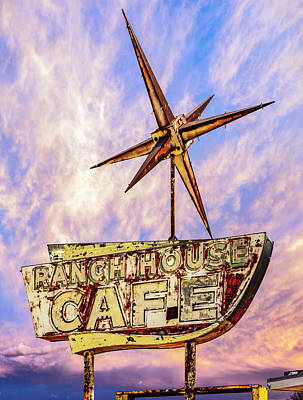 Poster featuring the photograph Ranch House Cafe by Lou Novick