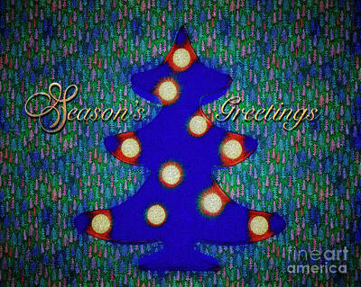 Poster featuring the digital art Season's Greetings by Edmund Nagele