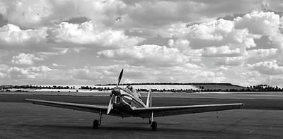 Silver Airplane Duxford England Poster