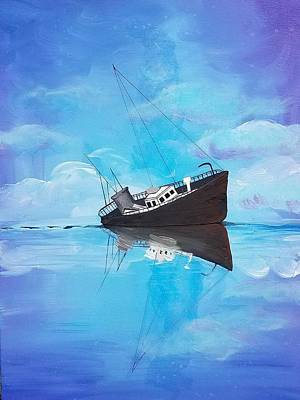 Poster featuring the painting Sinking Ship  by Jennah Lenae