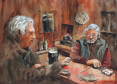 Poster featuring the painting The Knave Wins by Val Byrne