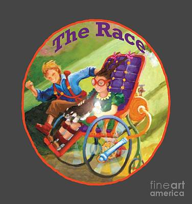Poster featuring the painting The Race by Donna Hall