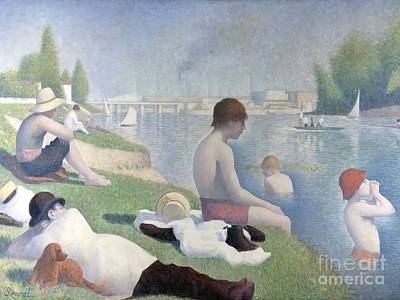Bathers At Asnieres Poster
