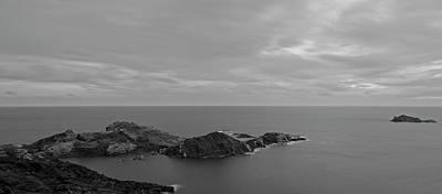 Dawn In Black And White In The Cap De Creus Poster