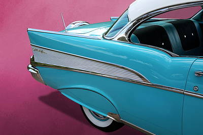 Poster featuring the photograph Turquoise 1957 Chevrolet Bel Air by Debi Dalio