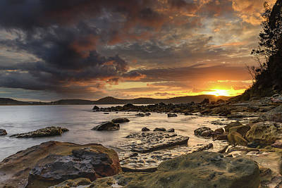 Stormy Sunrise Seascape Poster