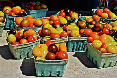 Poster featuring the photograph 2017 Monona Farmers' Market Heirloom Cherry Tomatoes by Janis Nussbaum Senungetuk