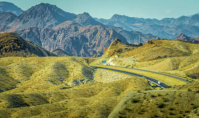 Poster featuring the photograph Red Rock Canyon Landscape Near Las Vegas Nevada by Alex Grichenko
