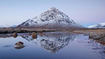 Poster featuring the photograph Dawn In Glencoe by Stephen Taylor