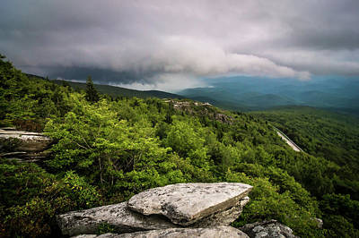 Poster featuring the photograph Rough Ridge Overlook Viewing Area Off Blue Ridge Parkway Scenery by Alex Grichenko
