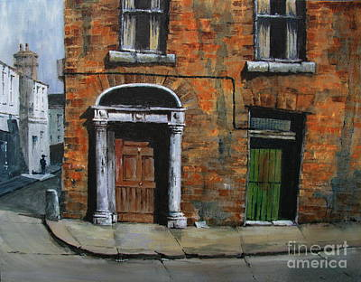 Poster featuring the painting 775 Decaying Elegance In The Liberties, Dublin by Val Byrne