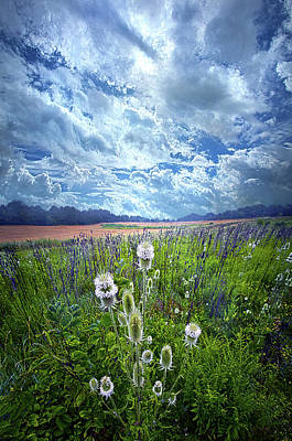 Poster featuring the photograph A Chance Of Rain by Phil Koch