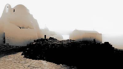 A Foggy Day In Mykonos Poster