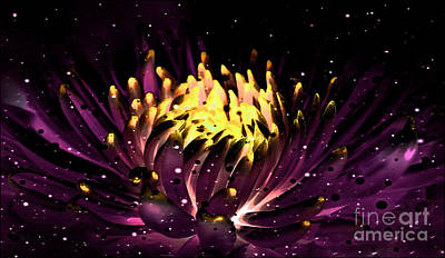 Abstract Digital Dahlia Floral Cosmos 891 Poster