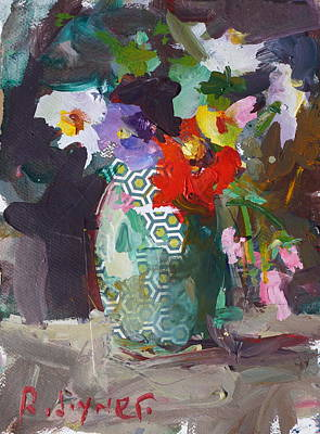 Abstract Flower Still Life Painting Poster